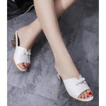 時尚粗跟露趾拖JH219008 (出清)